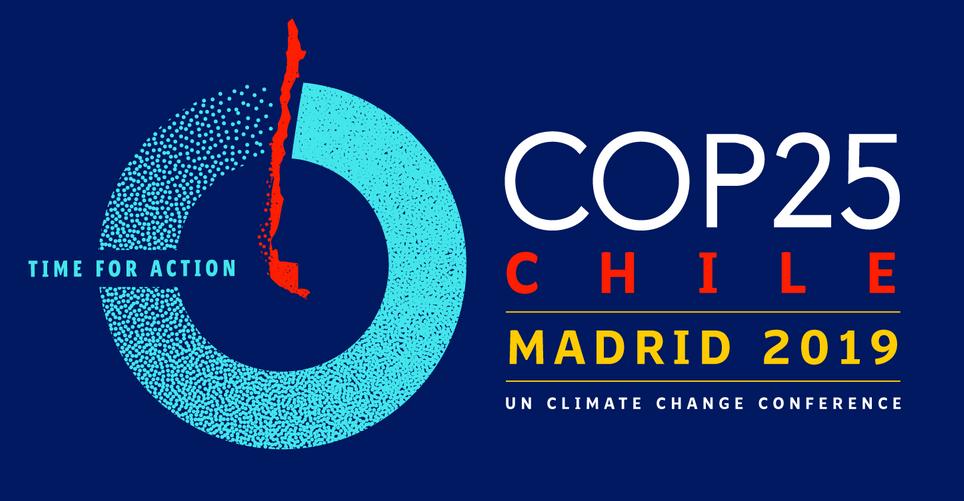 Logo oficial de la COP25 celebrada en Madrid